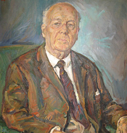 A painting of the founder of our culture collection, Ernst G Pringsheim